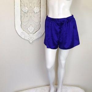 Victoria's Secret   Purple Satin Sleep Shorts S